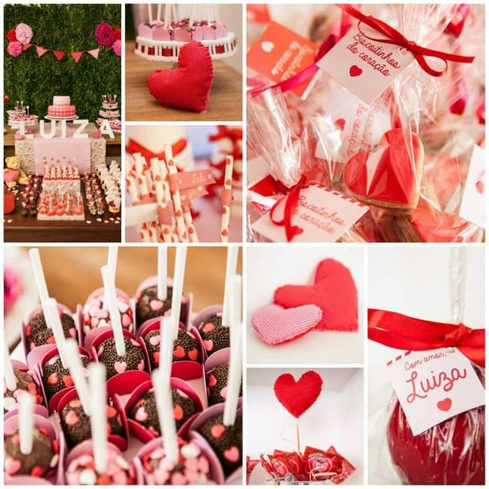 Heart themed party
