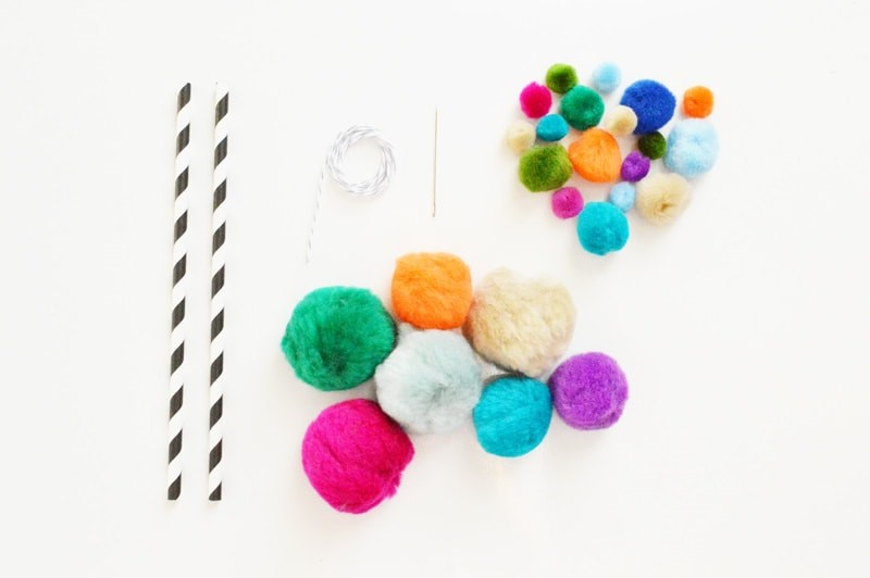 diy pom pom garland supplies