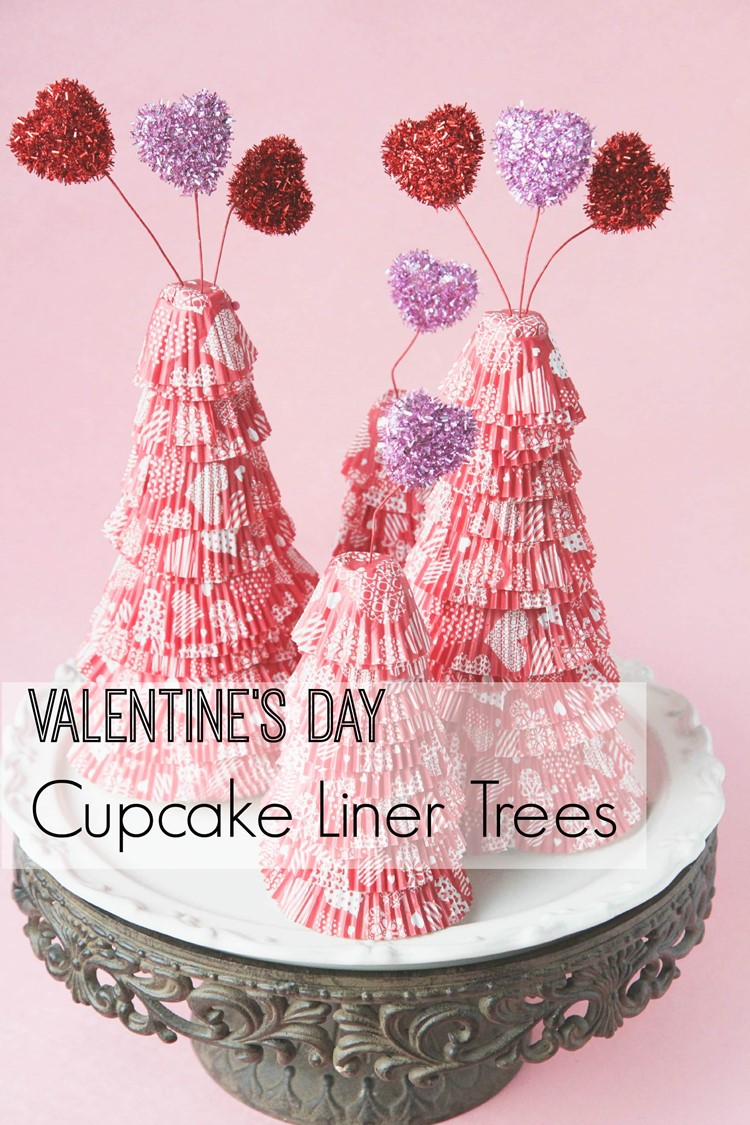 Valentine's Day Cupcake Liner Trees from MomAdvice.com.