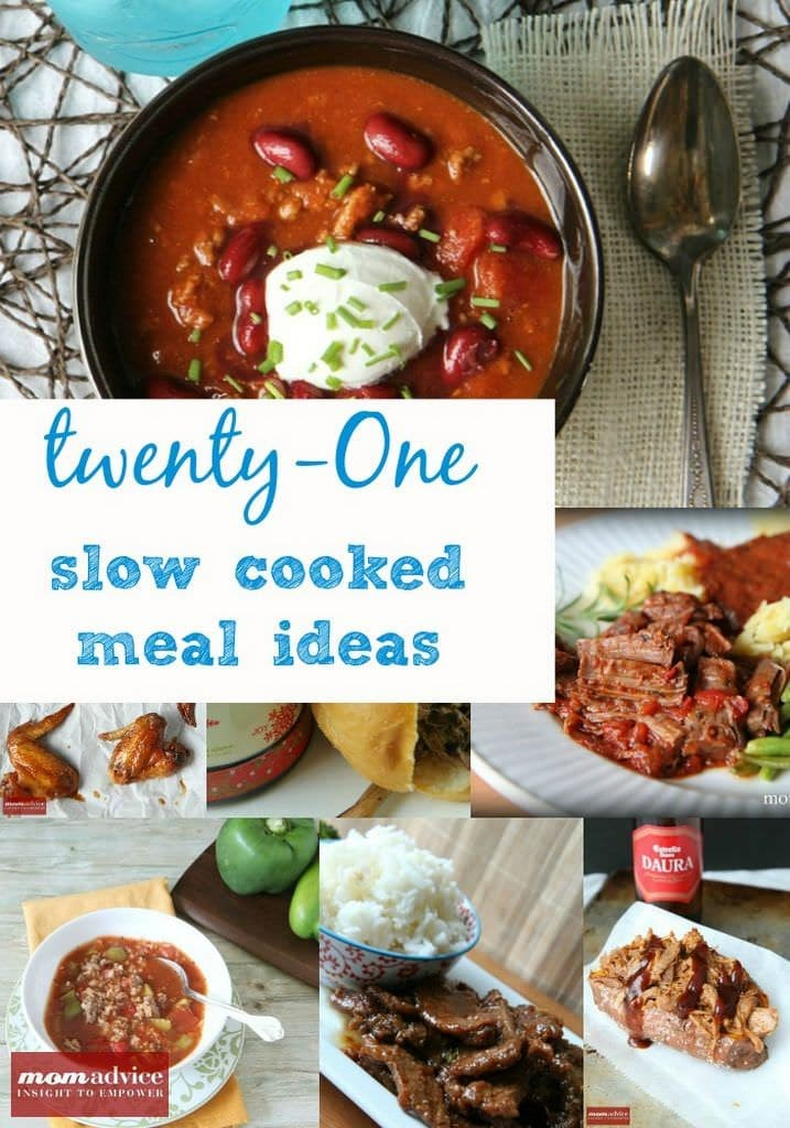 21 Easy Slow Cooker Meals from MomAdvice.com