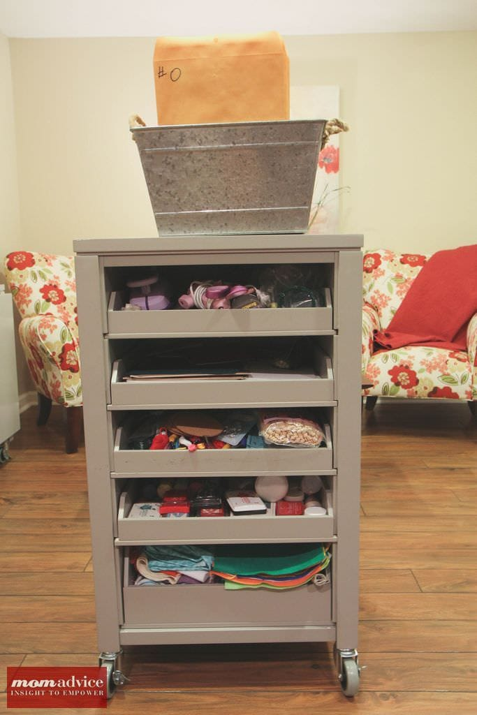 Smart Solutions for Craft Room Organization from MomAdvice.com