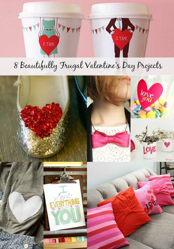 8 Beautifully Frugal Valentine's Day Projects from MomAdvice.com.