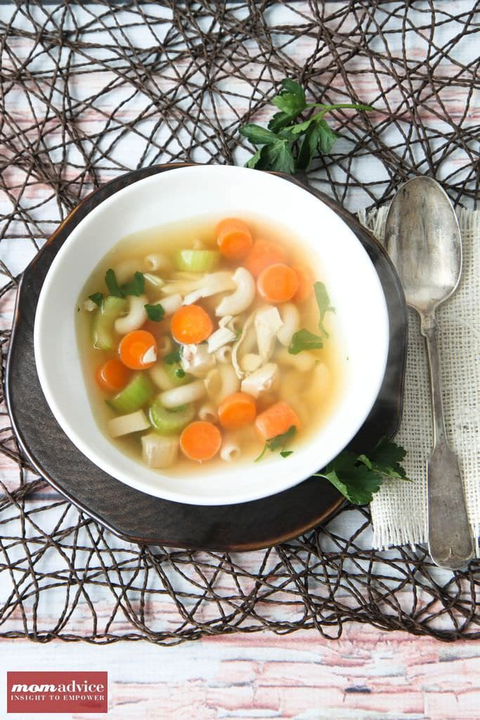 Gluten-Free Chicken Noodle Soup from MomAdvice.com