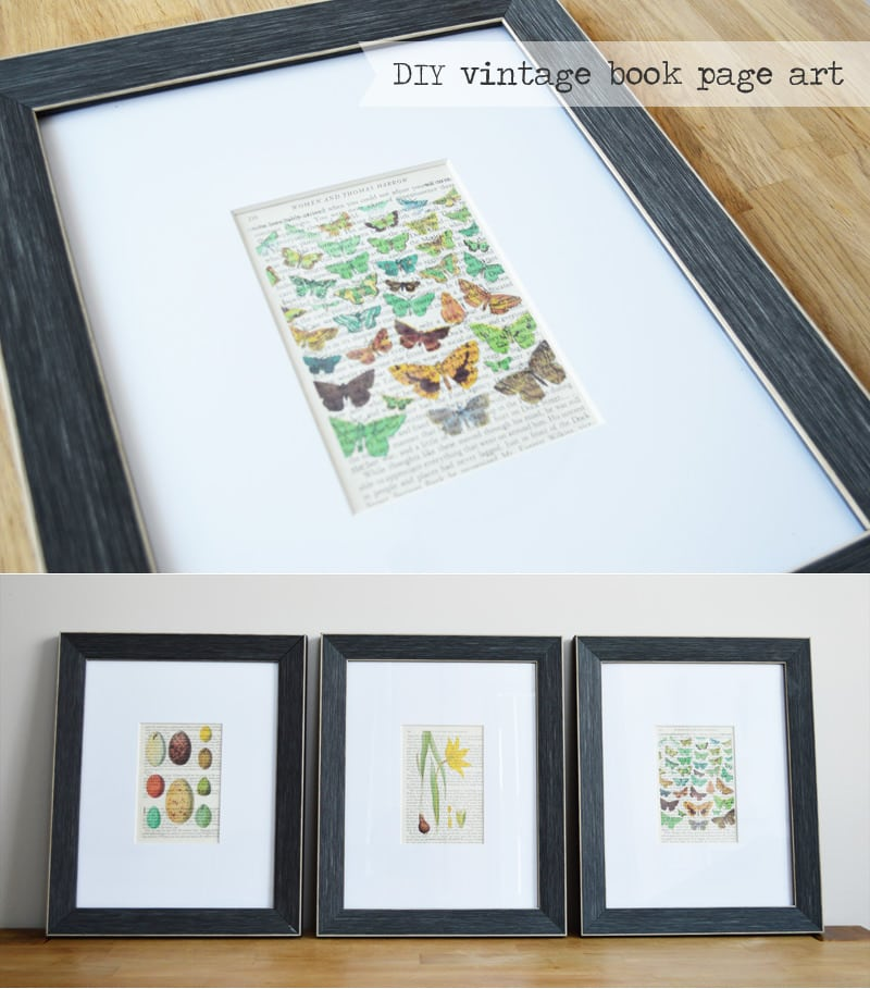Vintage Book Page Art DIY