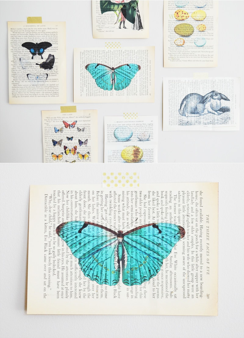 DIY Vintage Book Page Art