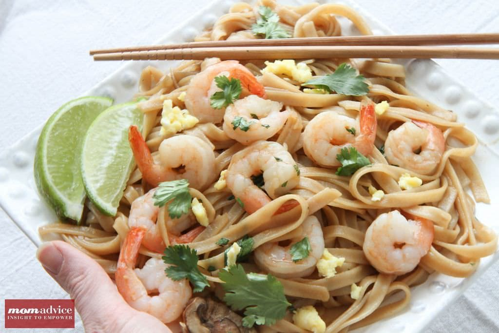 Gluten-Free Pad Thai With Shrimp