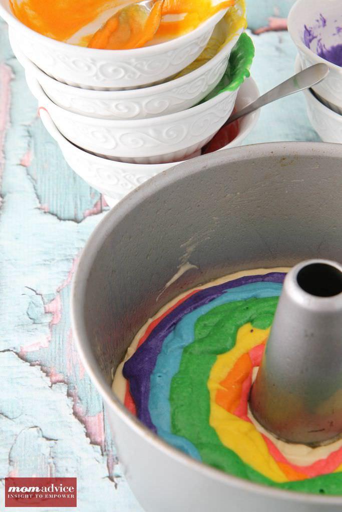 Gluten-Free Rainbow Bundt Cake from MomAdvice.com.