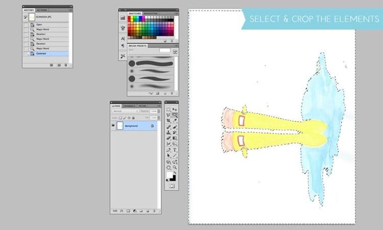 DIY watercolor and digital artwork