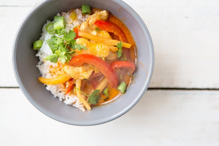 Thai Coconut Chicken Curry #recipe via Shaina Olmanson at MomAdvice.com