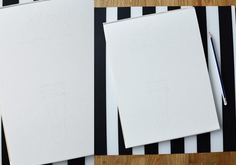 watercolor + digital art: step one: the sketch
