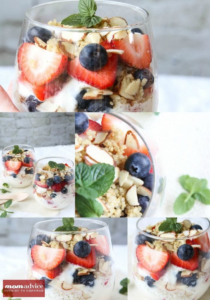 Berry Quinoa Parfait from MomAdvice.com