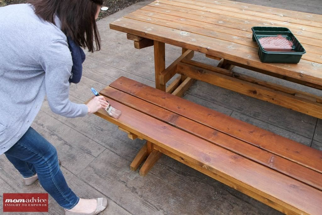 Charming How To Stain A Picnic Table From MomAdvice.com.