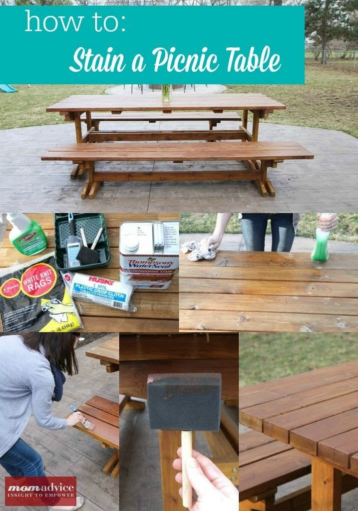 How To Stain A Picnic Table