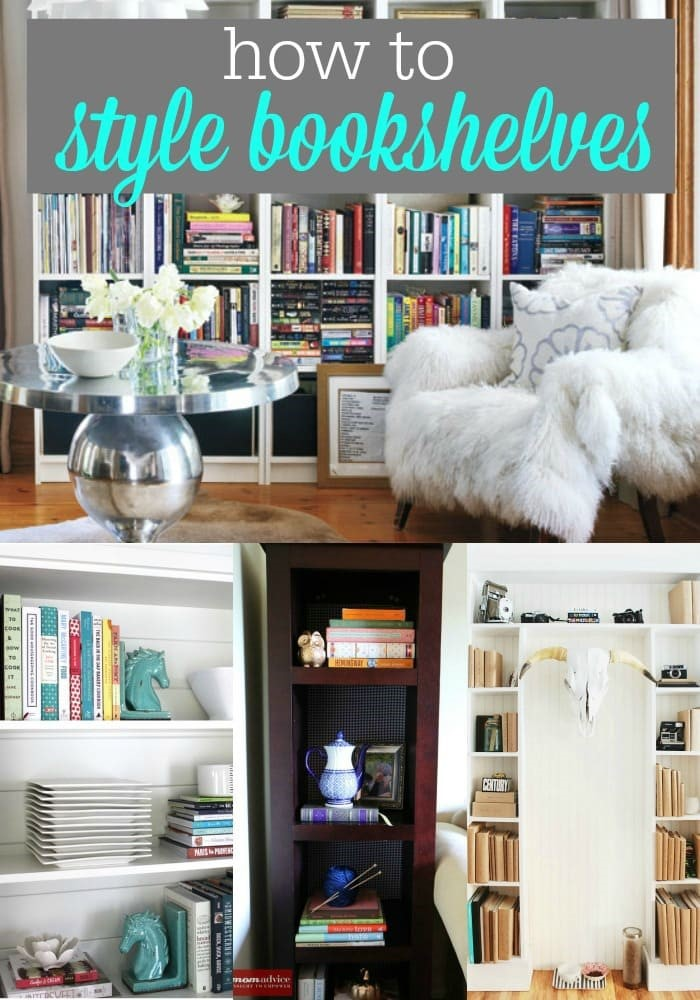 How to Style Your Bookshelves from MomAdvice.com.