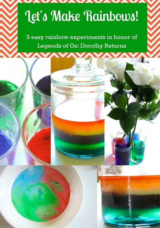 3 Rainbow Science Experiments for the Legends of Oz: Dorothy ...