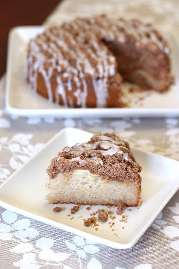 Gluten Free Vegan Apple Cinnamon Coffee Cake