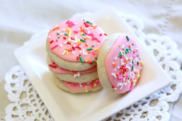Gluten Free Vegan Soft Frosted Sugar Cookies