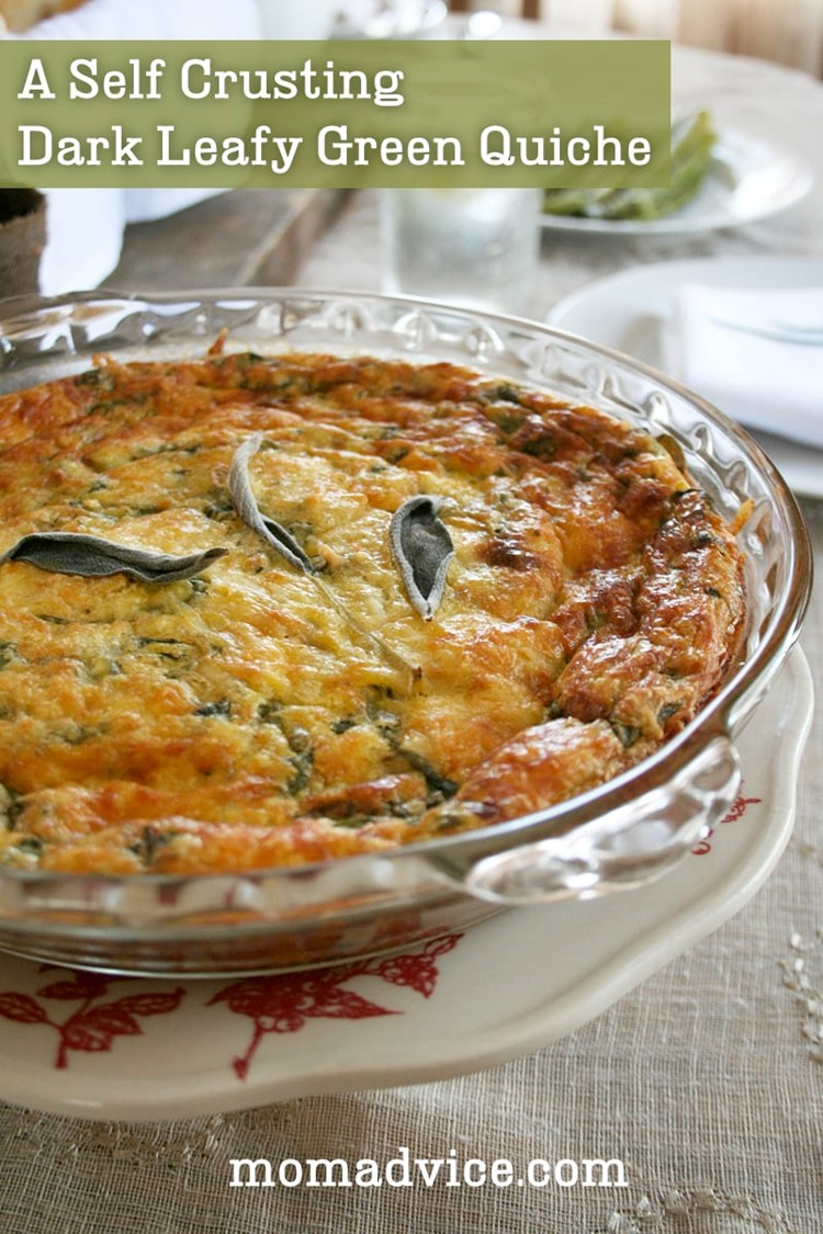 A Self Crusting, Dark Leafy Green Quiche | momadvice.com