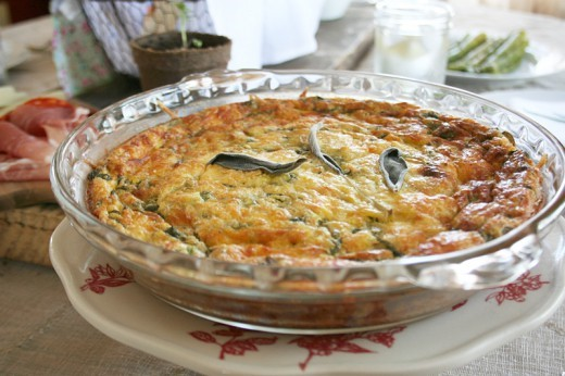 A Self Crusting, Dark Leafy Green Quiche Recipe