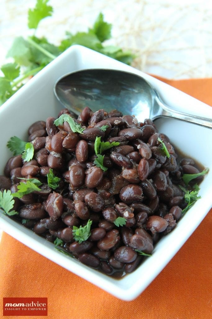 Slow Cooker Mexican Black Beans from MomAdvice.com.