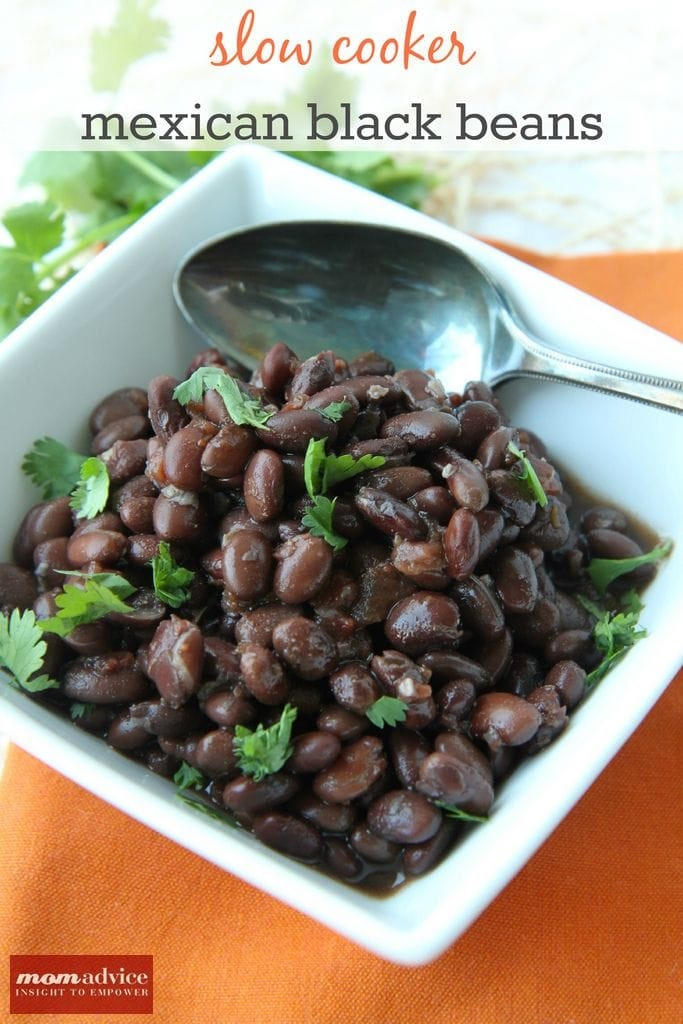 Slow Cooker Mexican Black Beans from MomAdvice.com