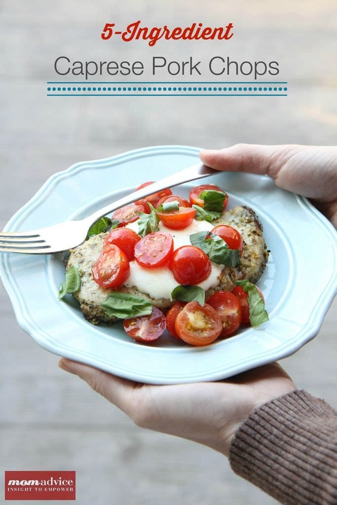 5-ingredient caprese pork chops