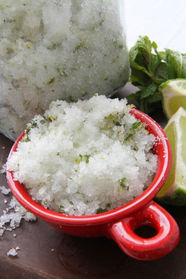 Easy-to-make Mojito Bath Salts