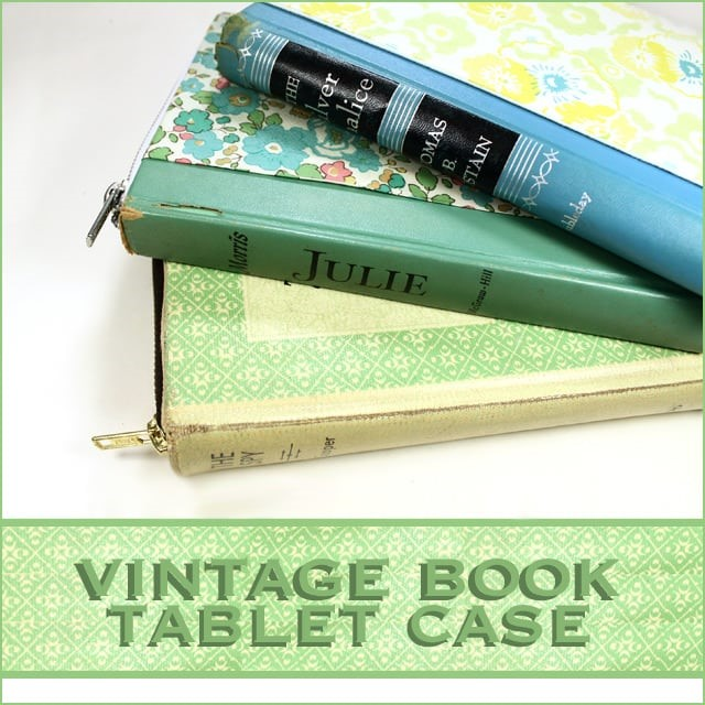 Vintage Book Tablet Case at Stamped in His Image