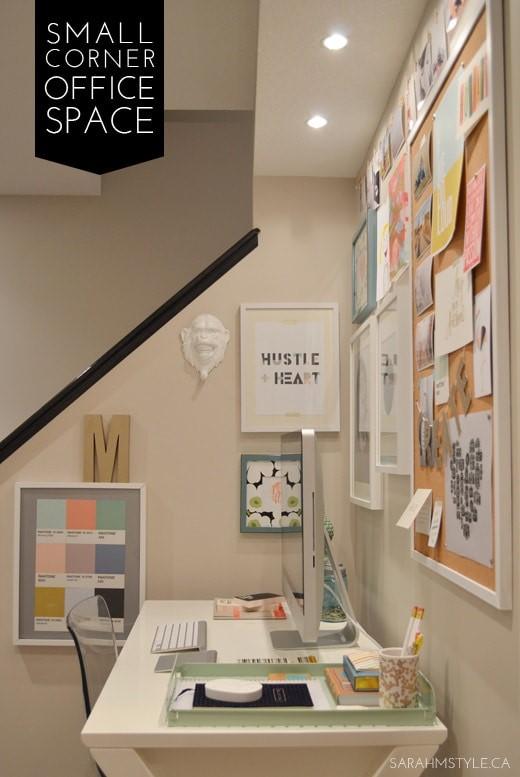 Small corner office - Sarah M Style