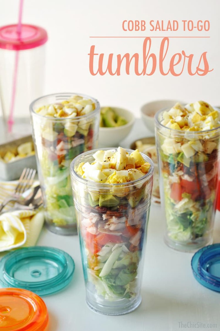Cobb-Salad-To-Go-Tumblers via The Chic Site