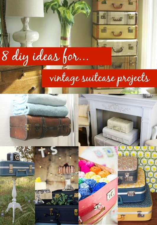 8 DIY Vintage Suitcase Projects