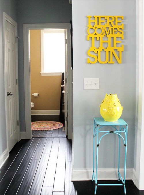 Here comes the sun house tour via Design Mom