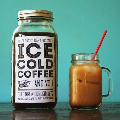 Ice cold coffee gift via Saturday Crafternoons