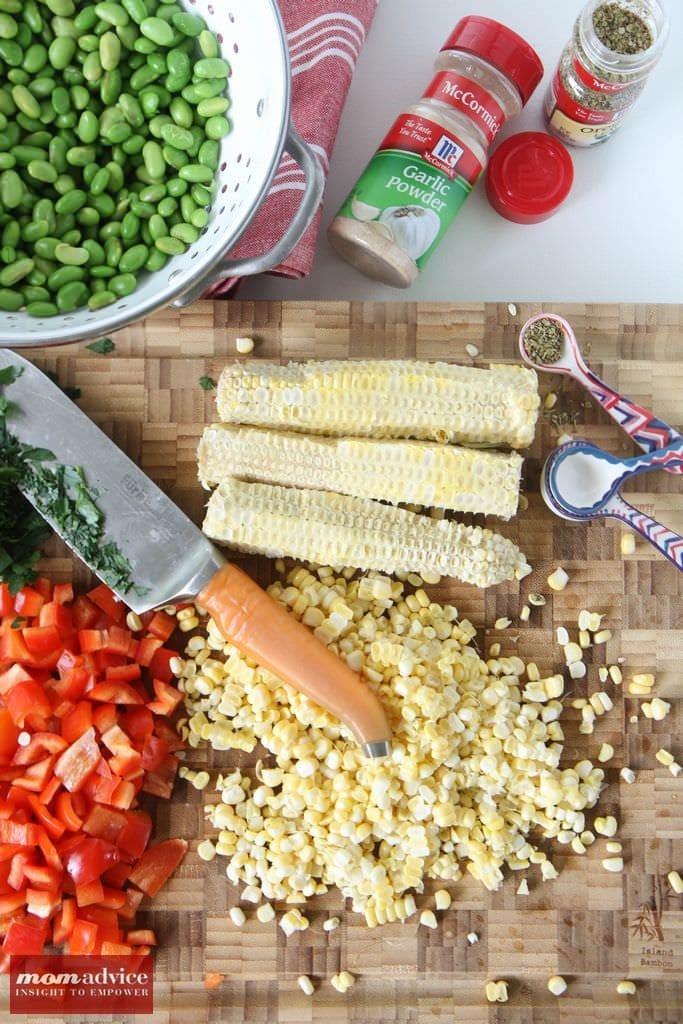 Shaving Grilled Corn for Salad