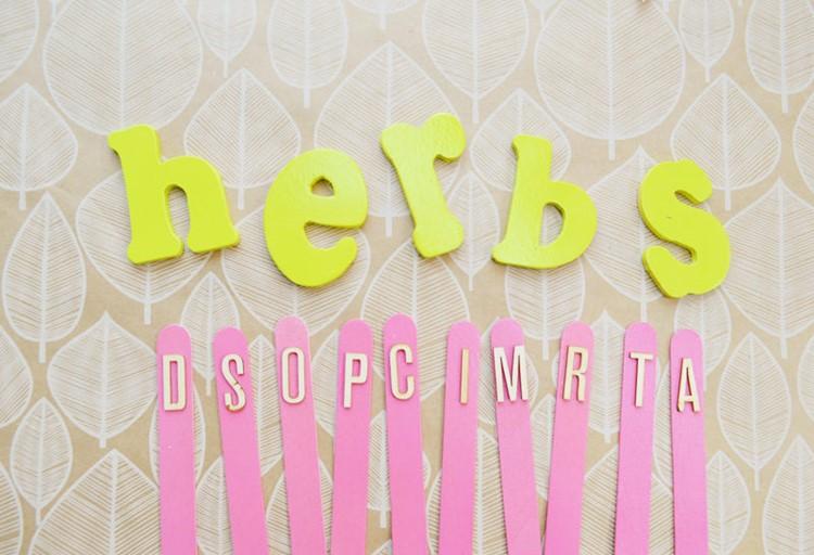 DIY Herb Garden Markers 2 ways