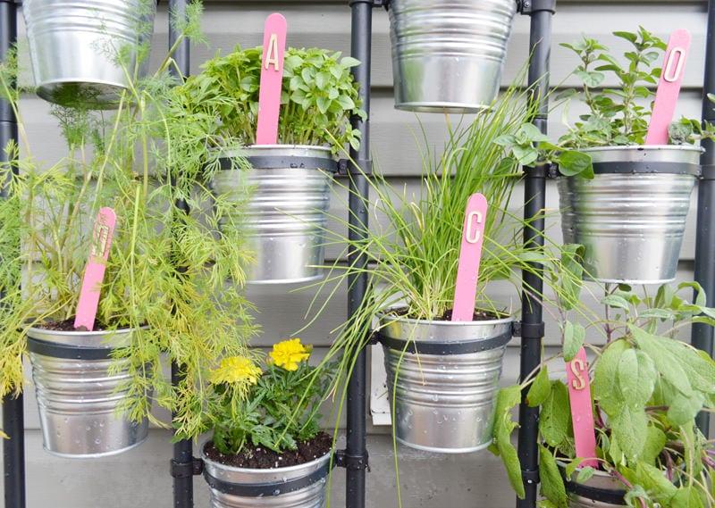 DIY IKEA herb garden