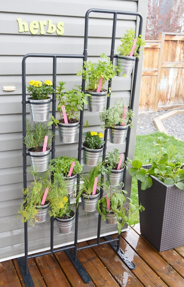 Herb Wall & DIY Garden Markers