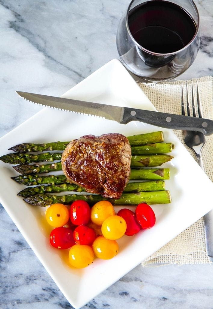 Pan Seared Oven Roasted Steak Recipe Plated