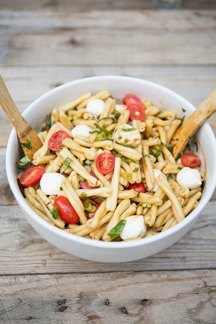 Caprese Pasta Salad #recipe via MomAdvice.com