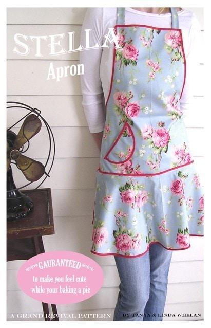 Floral apron via Etsy