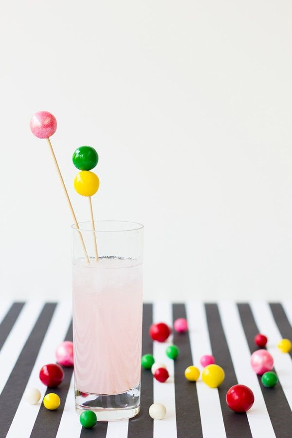 Gumball drink stirrers via Studio DIY