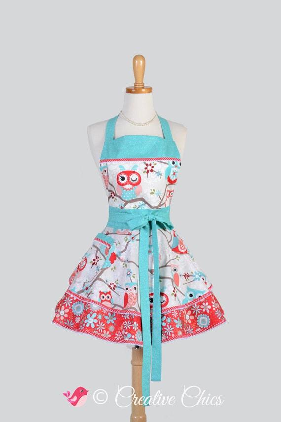 Owl apron via Etsy