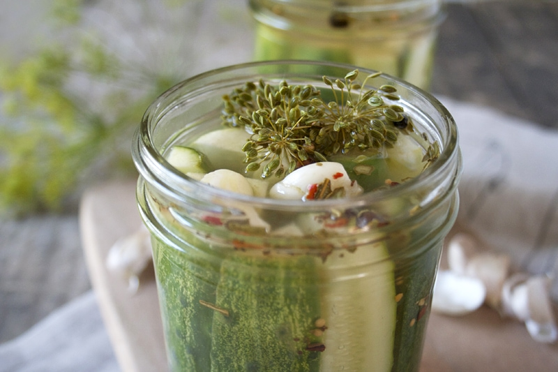 Refrigerator Pickles - Canning Made Easy | momadvice.com