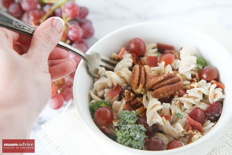 Gluten-Free Broccoli Grape Harvest Salad
