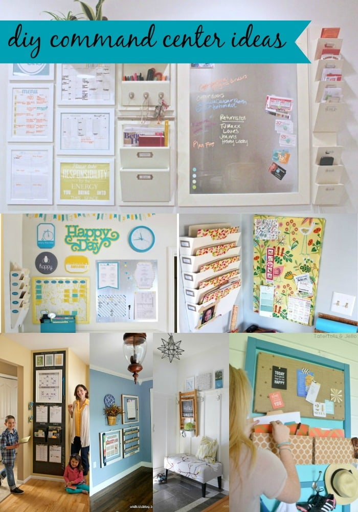 8 DIY Command Center Ideas from MomAdvice.com.