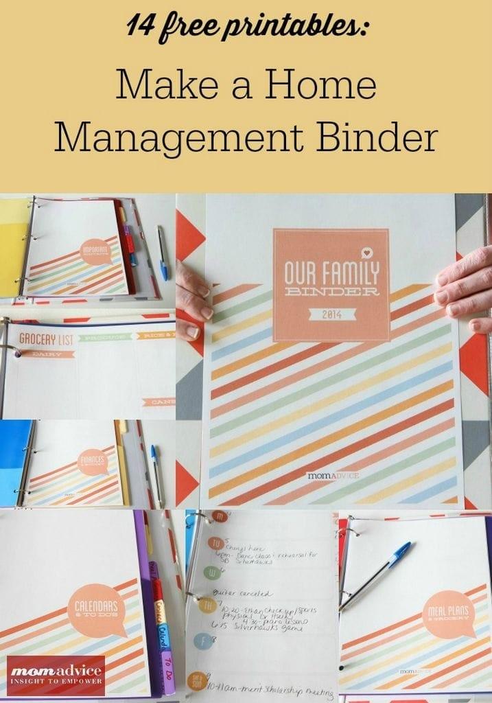 14 FREE Home Management Binder Printables - MomAdvice