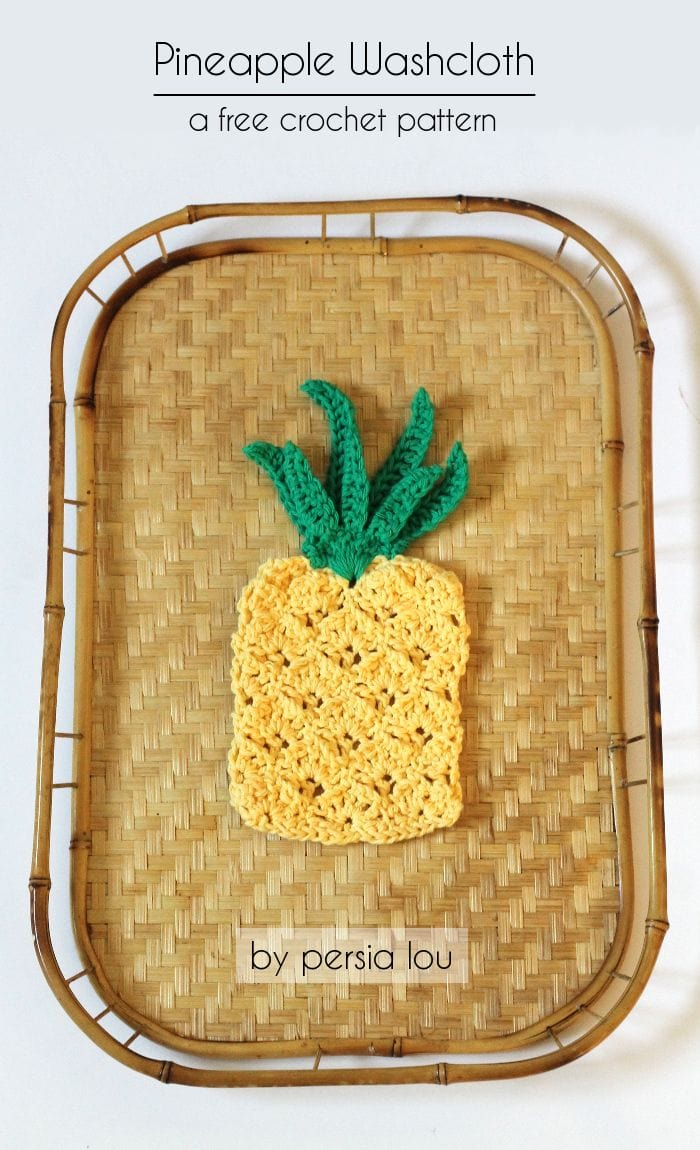 Pineapple crochet washcloth via Persia Lou