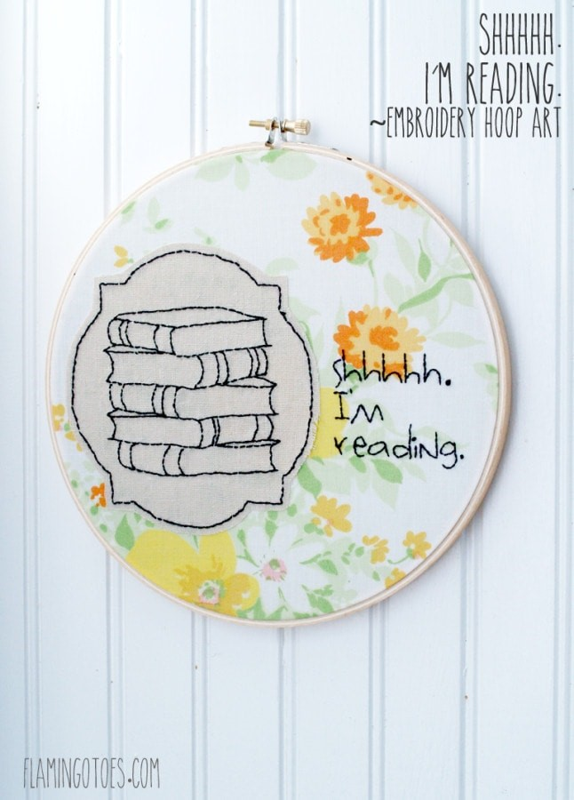 Reading Embroidery Hoop Art via Thirty Handmade Days
