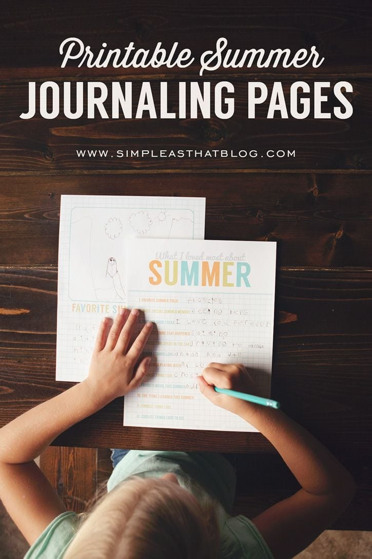 Summer journaling pages from Simple As That via Thirty Handmade Days