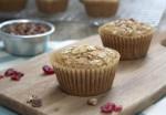 Honey Sweetened, Applesauce Cinnamon Breakfast Muffins #recipe via momadvice.com